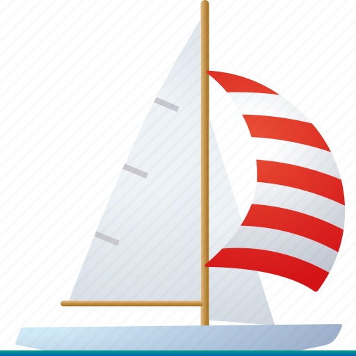 boat, equipment, sail boat, sailing, spinnaker, sports, yacht icon