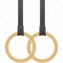 equipment, gymnastics, rings, sports icon