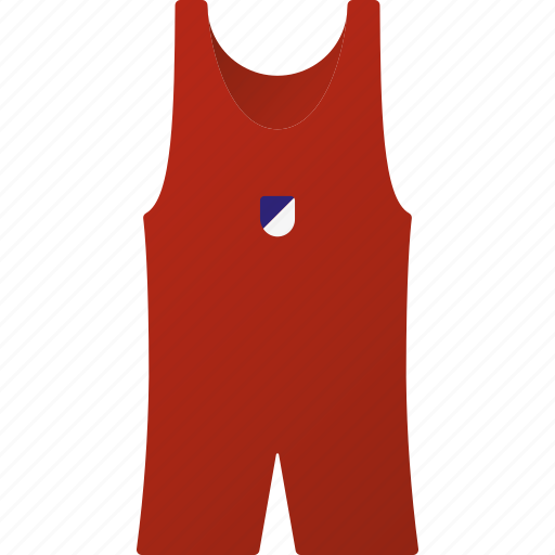 equipment, sports, sports wear, team, wrestling suit icon