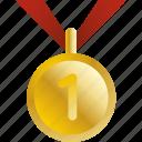 award, equipment, gold, medal, prize, sports, winner icon