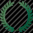 award, championship, equipment, honor, laurel, sports, wreath