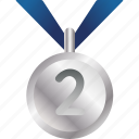 award, equipment, medal, prize, silver, sports icon