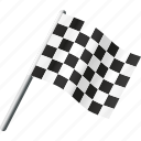 checkered, equipment, finish, flag, motor sports, racing, sports icon