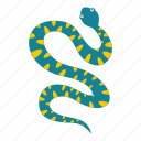 animal, danger, nature, serpent, snake, viper, wildlife icon