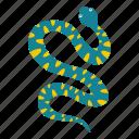 animal, danger, nature, serpent, snake, viper, wildlife icon