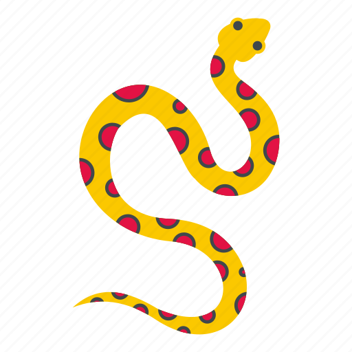 animal, danger, nature, pink, serpent, snake, spot icon