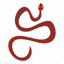 animal, danger, nature, serpent, snake, stripe, wildlife icon