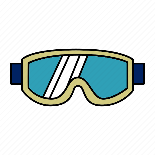 glasses, goggles, protection, skiing, snow, sports icon