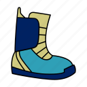 boots, ski, snow, sports, winter icon