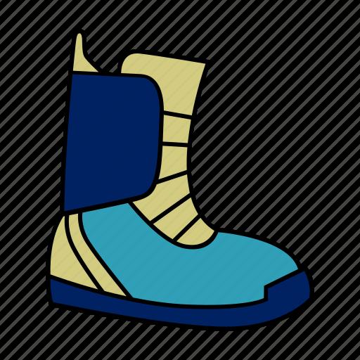 boots, ski, snow, sports, winter icon