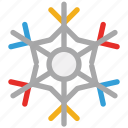 christmas, decoration, snowflake, winter icon