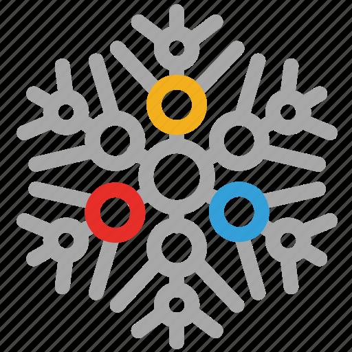 abstract snowflakes, ice, snowflake, winter icon