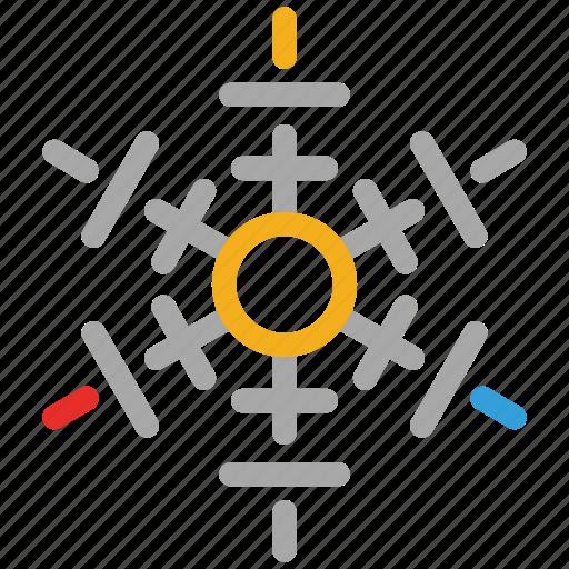snow, snowflake, winter, winter snowflakes icon
