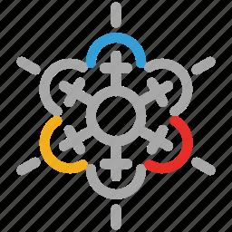 decorations, snow, snowflake, snowflake for christmas icon