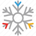 snow, snowflake, winter, winter snowflake icon