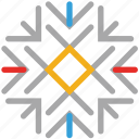 decorations, snow, snowflake, winter icon