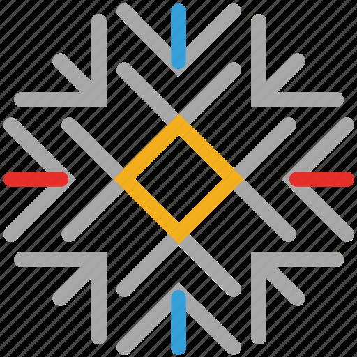 decorations, snow, snowflake, winter icon