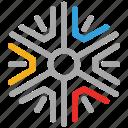 diverse design, diverse snowflakes, snow, snowflake icon