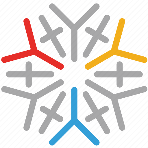 decoration, snowflake icon