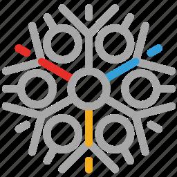 christmas design, decorations, snow, snowflake icon