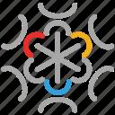 snow, snowflake, snowflakes doodle, winter icon
