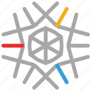 christmas design, snow, snowflake, winter icon
