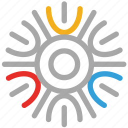 detailed snowflake, snow, snowflake, snowflake snow icon