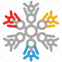 christmas, decorations, decorative snowflakes, snow icon