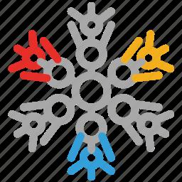 christmas, decorations, decorative snowflakes, snow icon