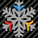 snow, snowflake, textured, textured snowflakes icon