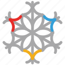 decoration, decorative, snow, winter snowflakes icon