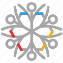decoration, geometric snowflakes, snow, snowflake icon