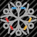 decoration, snow, geometric snowflakes, snowflake