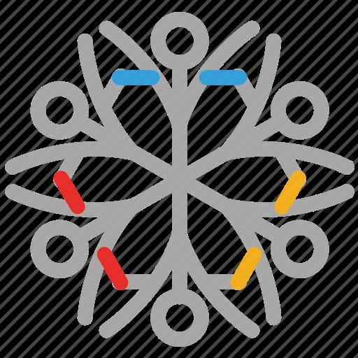 decoration, geometric snowflakes, snow, snowflake icon