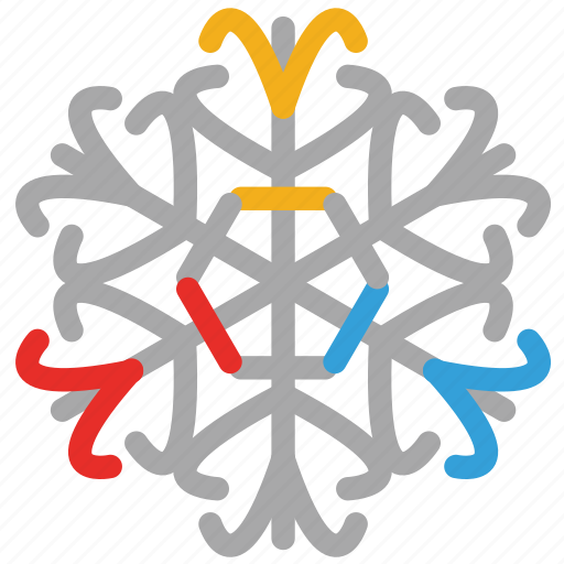 detailed, detailed snowflakes, snow, snowflake icon