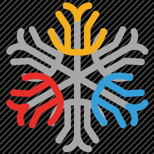 snow, snowflake, snowflake snow icon