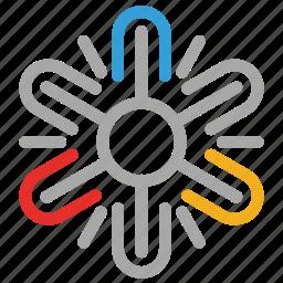 decorative, decorative snowflake, snow, snowflake icon