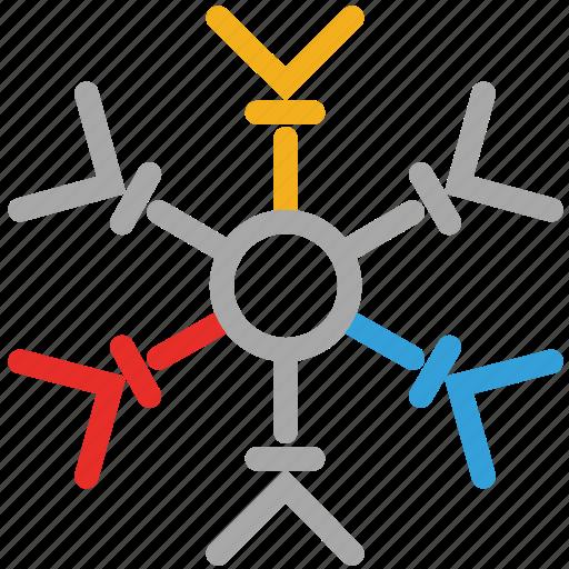 retro snowflake, retro style, snow, snowflake icon