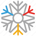 celebrations, christmas, snowflake, star shape icon