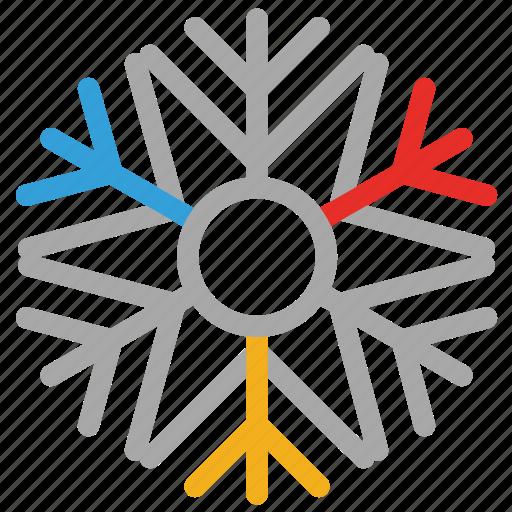 celebrations, christmas, snowflake, star shape icon