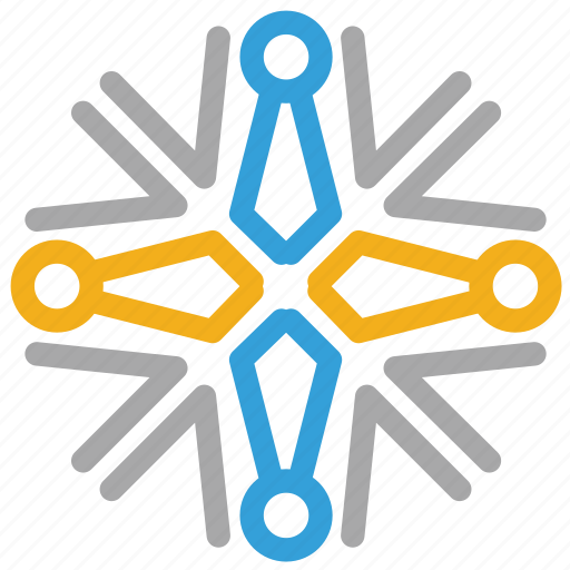 christmas, snow, snowflake, snowflake shape icon