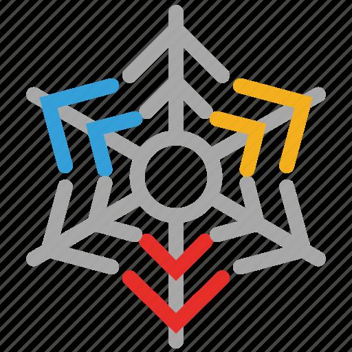 christmas, snow, snowflake, web shape icon
