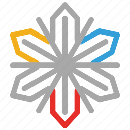 christmas, christmas snow flowers, crystal ornaments, decorations icon