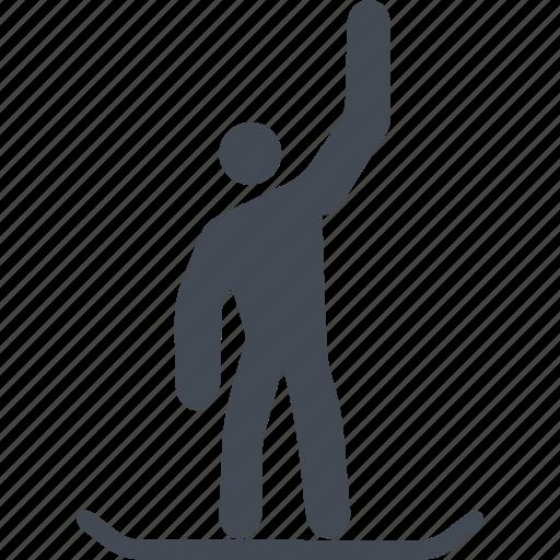 mountain, slope, snow, snowboard, sport icon