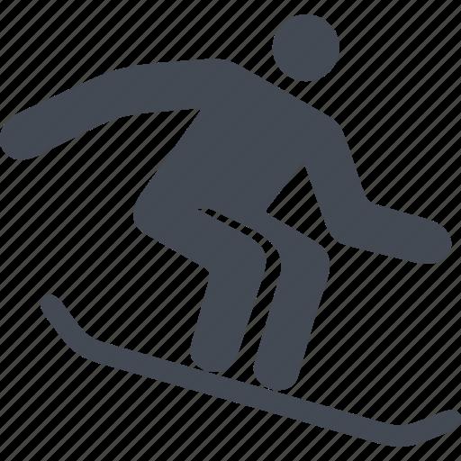 bounce, mountain, slope, snow, snowboard, sport icon