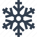 christmas, flake, silhouette, snow, winter icon