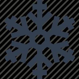 christmas, flake, silhouette, snow, winter icon