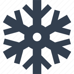 christmas, flake, frozen, hexagon, silhouette, snow, snowflake, winter icon