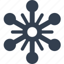 christmass, flake, holiday, snow, snowflake, winter icon