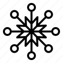weather, cold, nature, snowflakes, snow icon